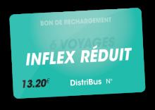 Carte Inflex 6 voyages réduit (13.20 €)